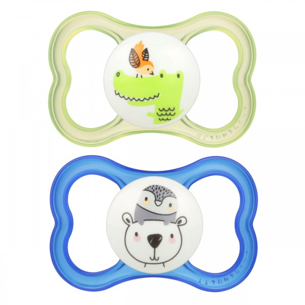 MAM Air Pacifier - 6+ Months - Alligator and Polar Bear