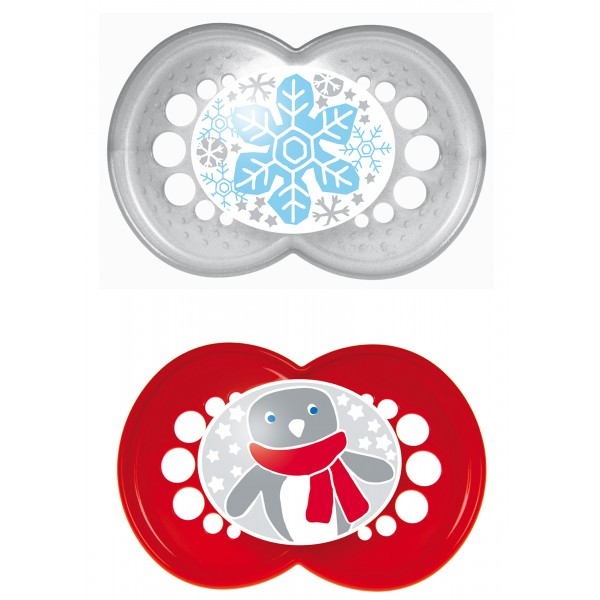 Winter 6+ Months Pacifiers-Snowflake/Penguin
