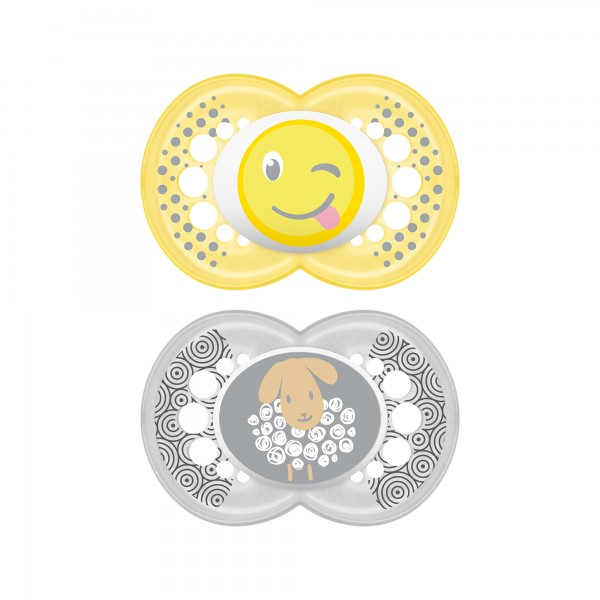 MAM Original Pacifier - 6+ Months - Yellow & Silver