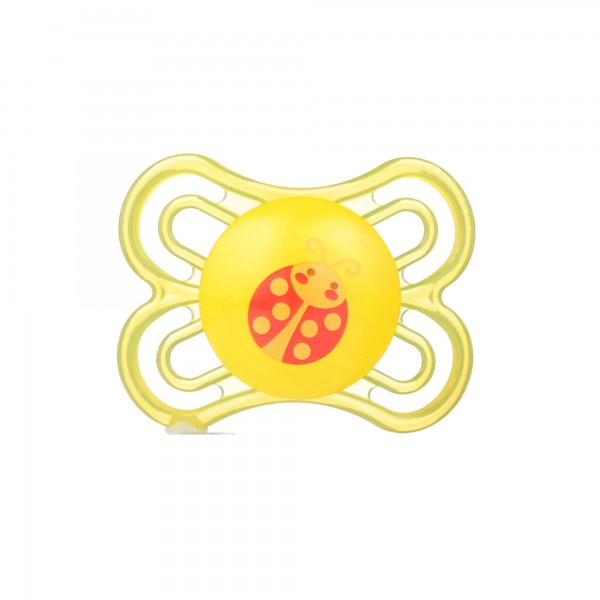 MAM Perfect Pacifier, 0-6 Months - yellow