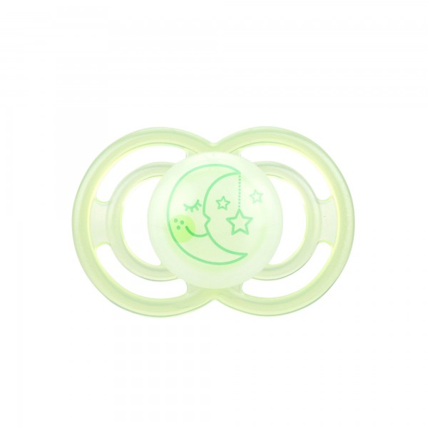 MAM Perfect Night Pacifiers, 6+ Months, light green