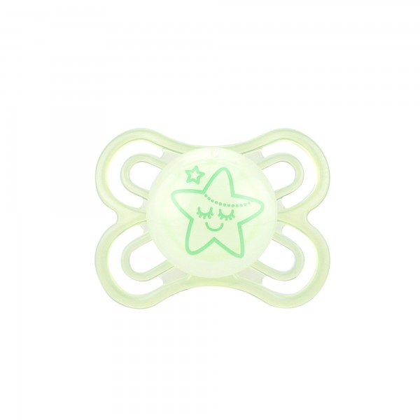 MAM Perfect Night Pacifiers, 0-6 Months, light green