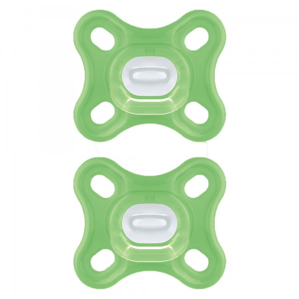 MAM Comfort™ 100% silicone 1-piece pacifier, 0+ Months, 2-Count