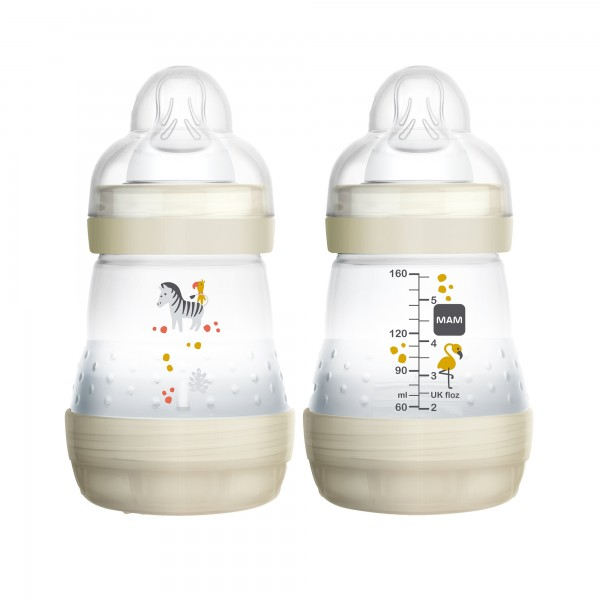 MAM Anti-Colic Bottle 5oz - Double Pack - cream