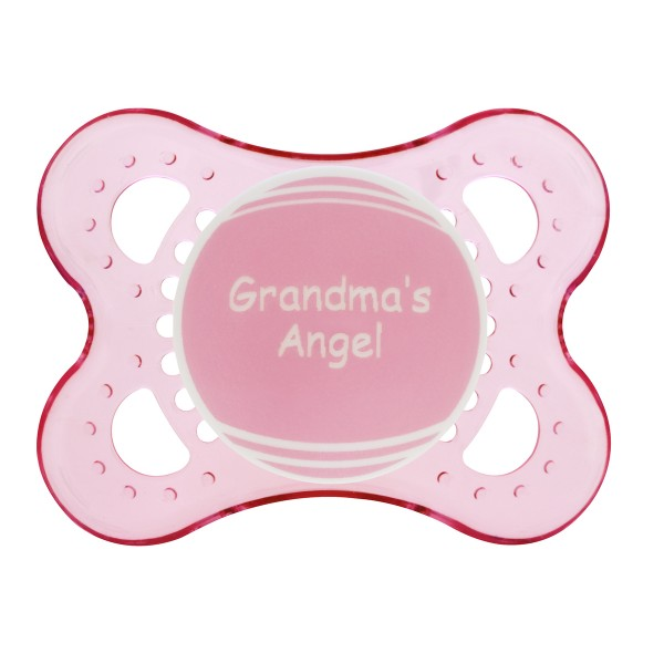 MAM Personalized Pacifiers, Pink with Pink Shield, 0-6 Months