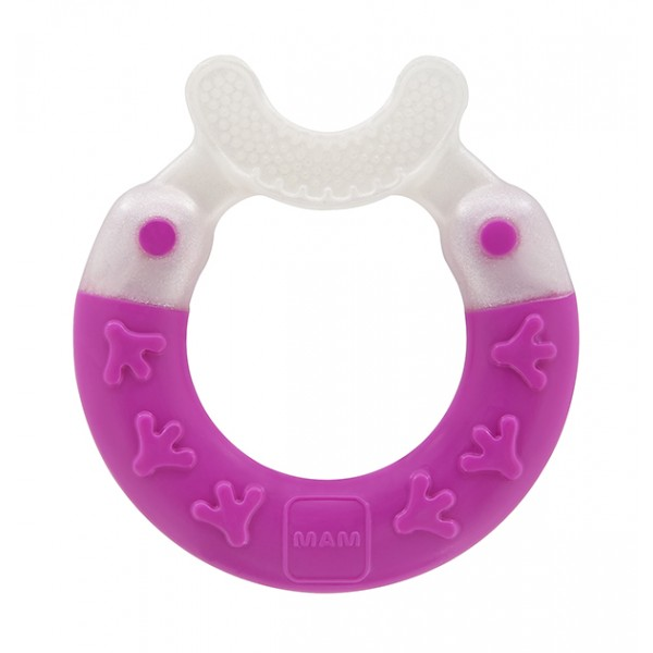 MAM Bite and Brush Teether - 3+ Months -  Pink
