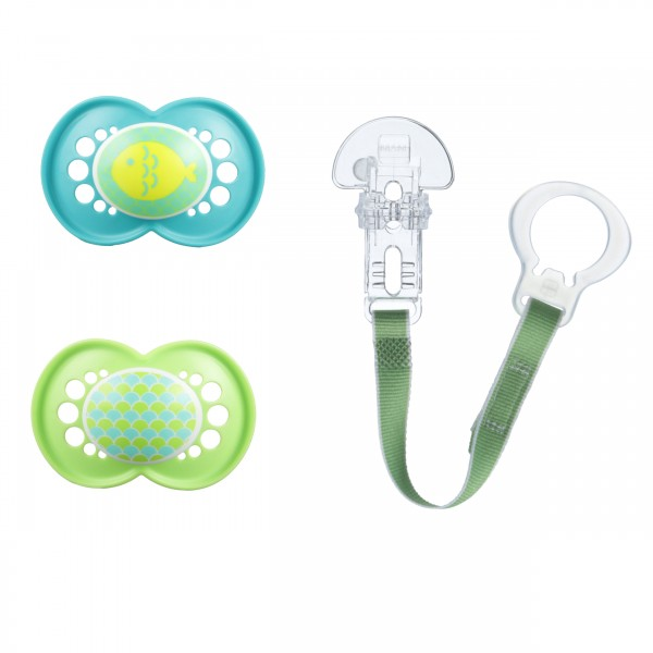 MAM Trends Pacifier Value Pack - 6+ Months - Teal/Green
