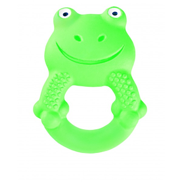 MAM Friends Max the Frog 100% Natural Rubber Developmental Teething Toy, 4+ Months, 1-Count, Unisex