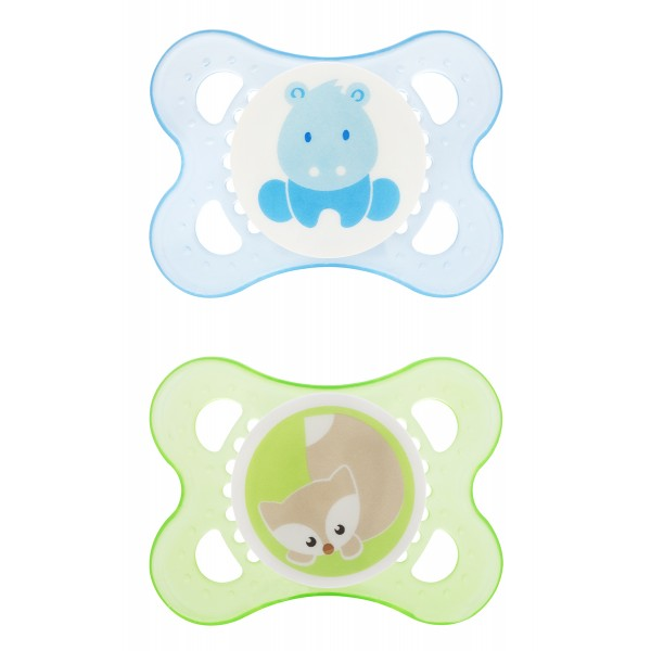 MAM Animals 0-6 Months Pacifiers - Blue