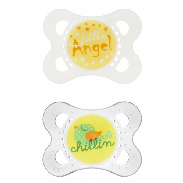 attitude 0-6M Pacifiers Angel/Chillin