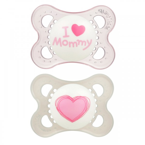 MAM Love and Affection Pacifier - 0-6 Months - Pink_Mommy