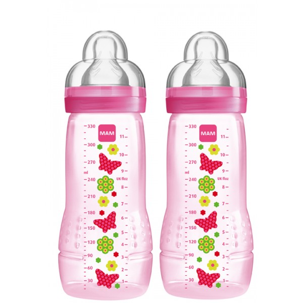 Baby Bottle 11 oz Double Pack-Pink