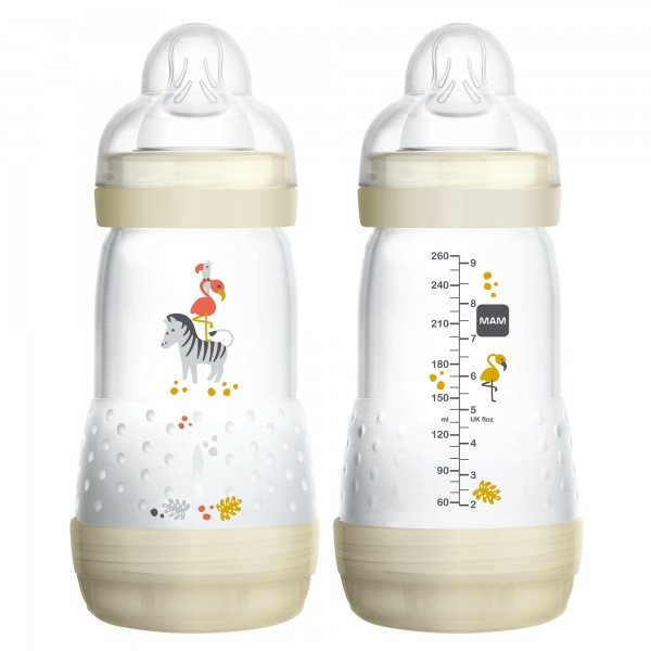 MAM Anti-Colic Bottle 9 oz. - 2 count - Cream