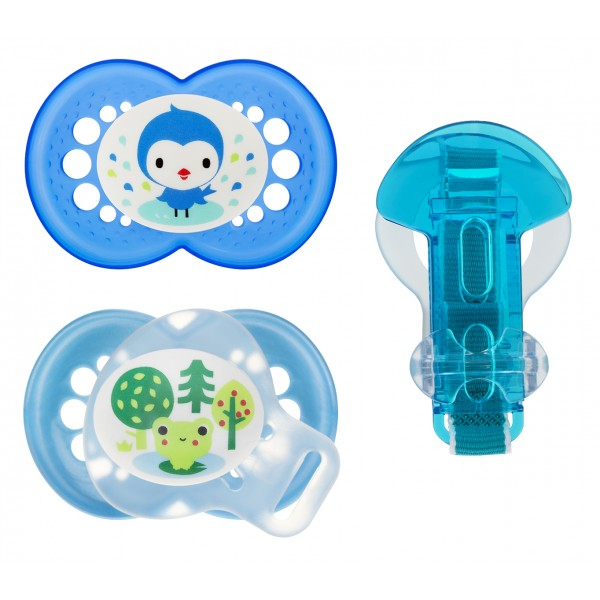 MAM Pearl Pacifier Value Pack, 6+ Months - Blue