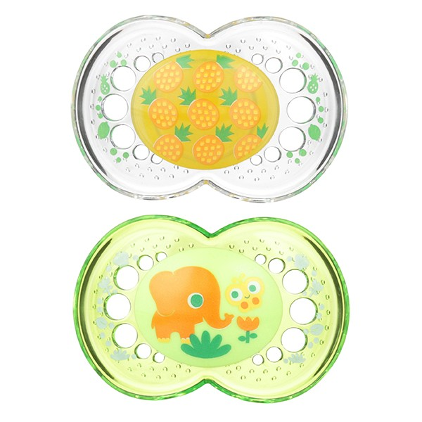 MAM Crystal Pacifier - 6+ Months - Pineapple/Elephant