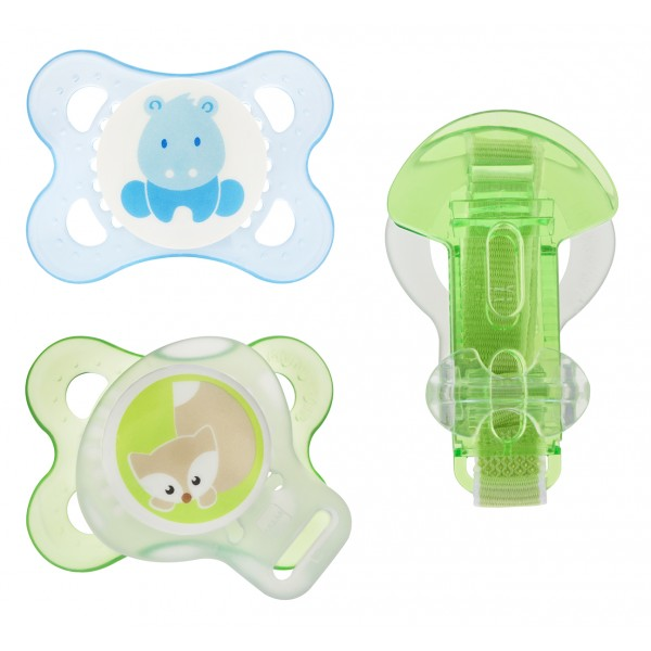 Original 0-6M Pacifier Value Pack-Hippo
