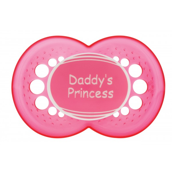 MAM Personalized Pacifiers, Pink with Pink Shield, 6+ Months