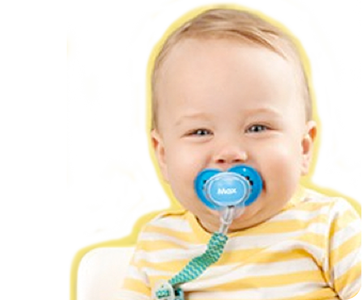 Baby with Personalized Pacifier